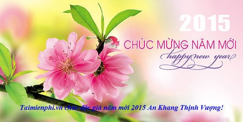 Create greeting cards new year 2015 with a simple smell spring t paint m4hsunfo