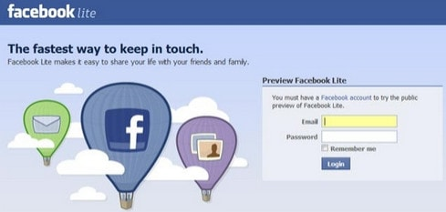 facebook lite cho android