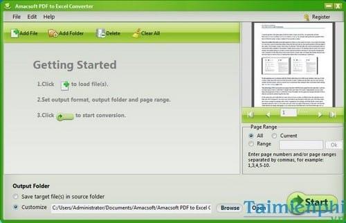 amacsoft pdf to excel converter