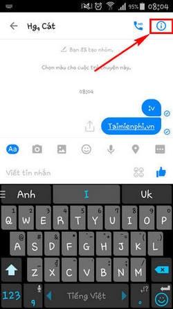 doi ten nick tren facebook messenger