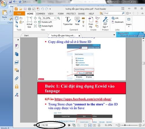 pdf setting up pages foxit reader