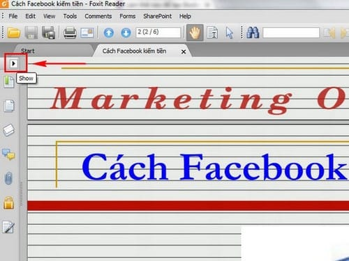 cach tao bookmark trong foxit reader