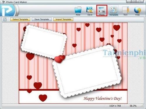 Photo Card Maker phần mềm thiết kế thiệp mừng miễn phí Tao-thiep-valentine-voi-photo-card-maker-4
