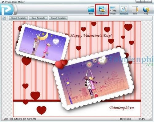 Photo Card Maker phần mềm thiết kế thiệp mừng miễn phí Tao-thiep-valentine-voi-photo-card-maker-5