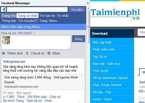 Su dung Facebook Messenger tren firefox