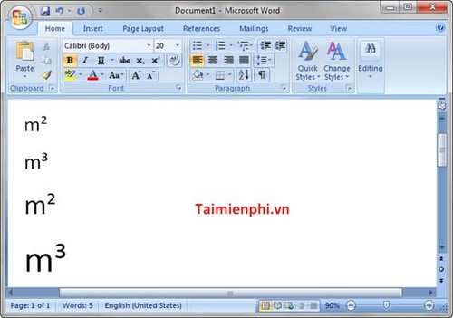 Guide Type M2 M3 In Word Excel Powerpoint