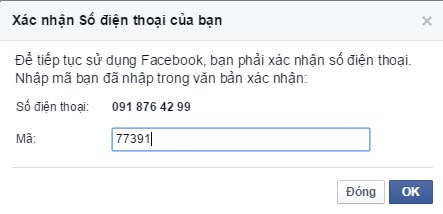 Tạo facebook bằng số điện thoại