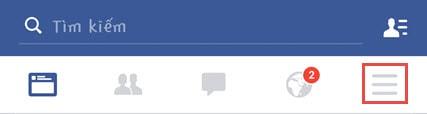 thoat facebook tren dien thoai