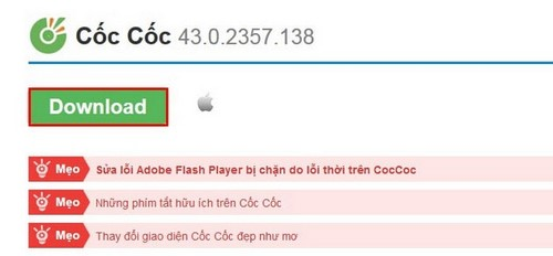 Updating CocCoc, Coccoc latest update, Rerun Coc Coc