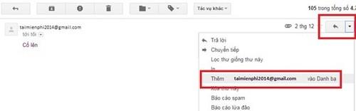 bo sung dia chi email moi vao danh ba gmail,