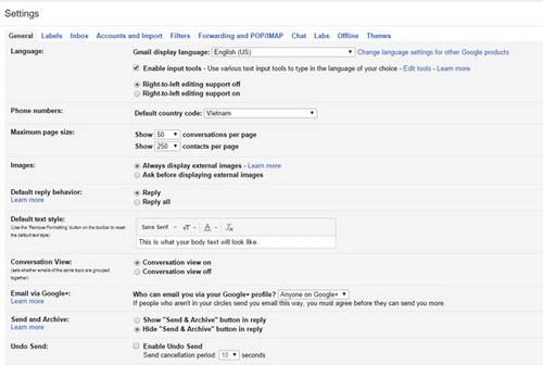 xoa tab xa hoi quang cao trong gmail
