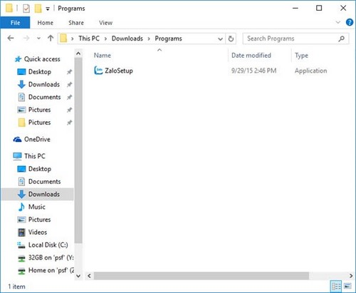 How to install on Windows 10 Zalo