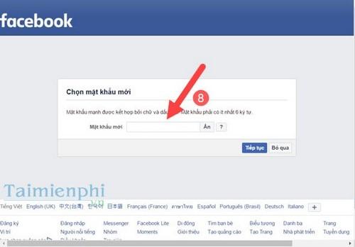 lay lai mat khau facebook
