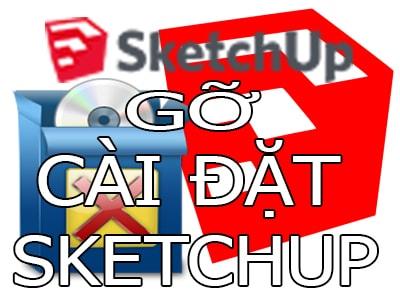 go sketchup tren may tinh