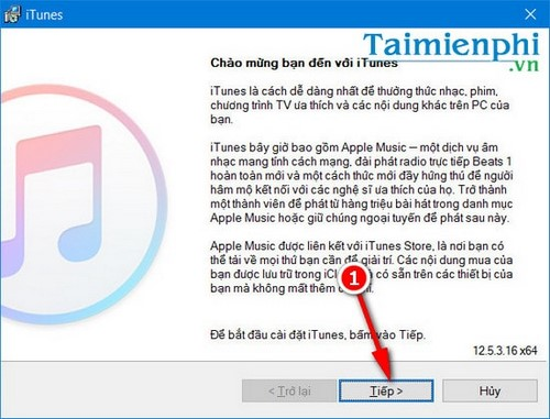 cai itunes cho Windows 10