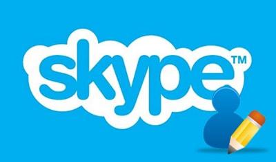 cach doi ten skype tren may tinh