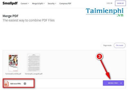 huong dan ghep file pdf online