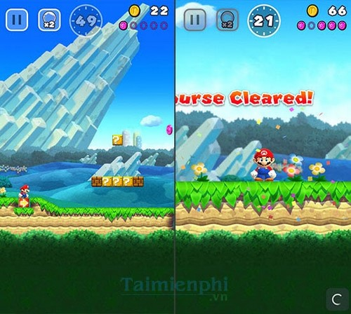 chon che doi choi super mario run