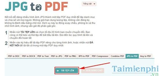 tao file pdf tu anh bang JPG2PDF