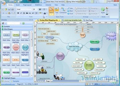 Phần mềm vẽ bản đồ tư duy cực đẹp