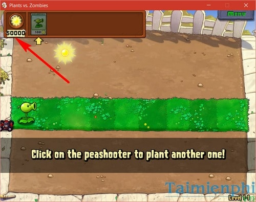 dung cheat engine thay doi thong so game plants vs zombie