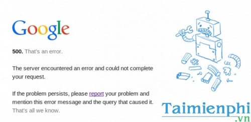 Lỗi 500 Internal Server Error và cách khắc phục