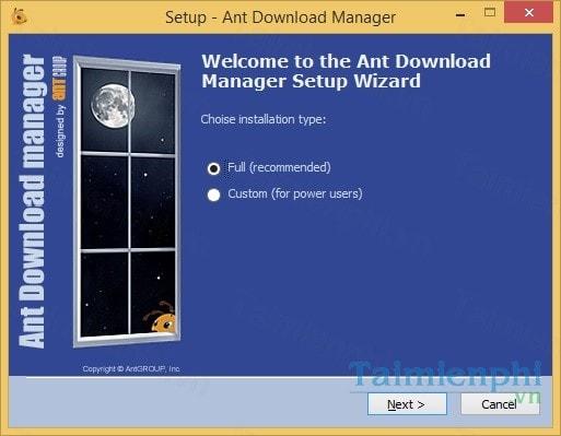 cach cai phan mem ho tro download ant download manager