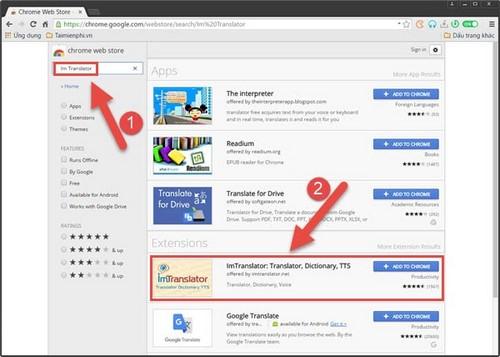 dich trang web tu tieng anh sang tieng viet tren torch browser