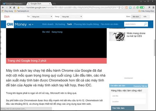 dich web tu tieng anh sang tieng viet voi torch browser