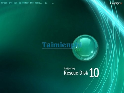 huong dan tao usb kaspersky rescue disk diet virus may tinh