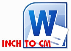 how to change cm to inches in word 2016