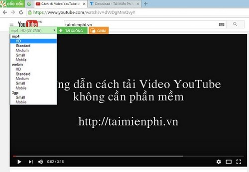 cach tai video youtube bang trinh duyet coc coc