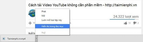 cach tai video youtube tren trinh duyet coc coc