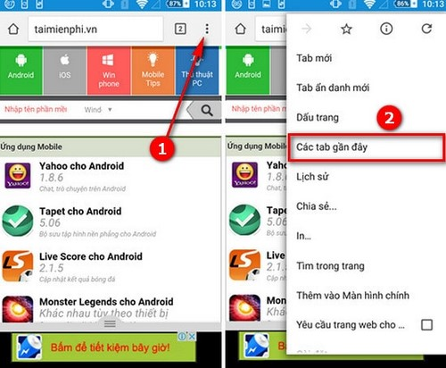 how to delete recent tabs in google chrome android