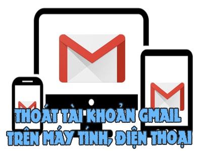 đang xuat gmail tren may tinh dien thoai