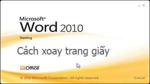 xoay trang word 2010