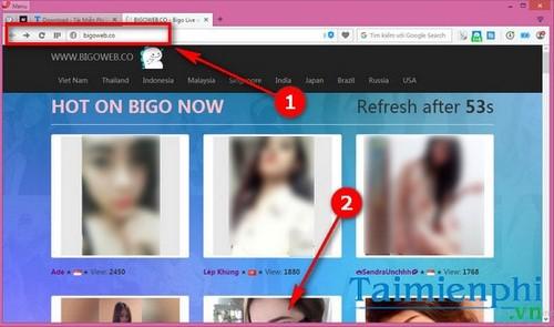 xem live stream bang bigo live tren may tinh