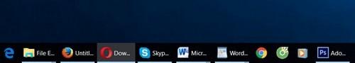hien thi ten ung dung tren taskbar trong windows 10