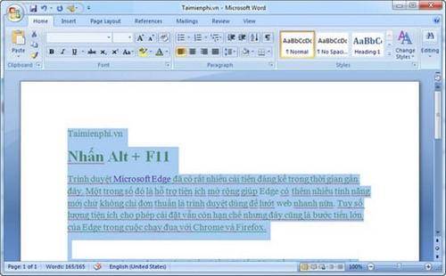 xoa hyperlink trong Word 2007
