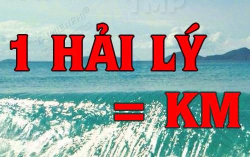 1 hải lý bằng bao nhiêu km, đổi hải lý ra km, cách chuyển đổi đơn giản