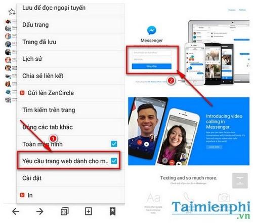 doc tin nhan fb khong can messenger