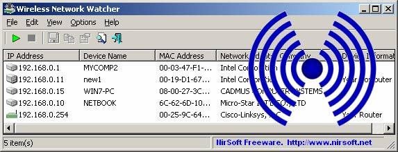 kiem soat mang wifi bang wireless network watcher