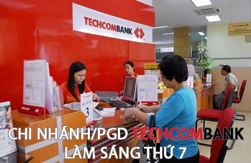 chi nhanh techcombank lam thu 7