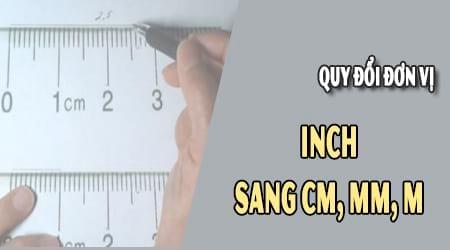 1 inch bang bao nhieu cm