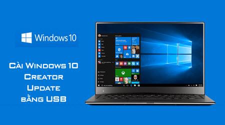 cach cai windows 10 creator update bang usb