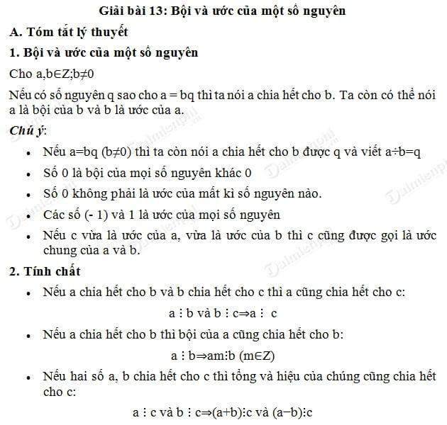 Giải bài tập trang 97 SGK Toán 6 tập 1 - Bội và ước của một số nguyên câu 101, 102, 103, 104, 105, 106