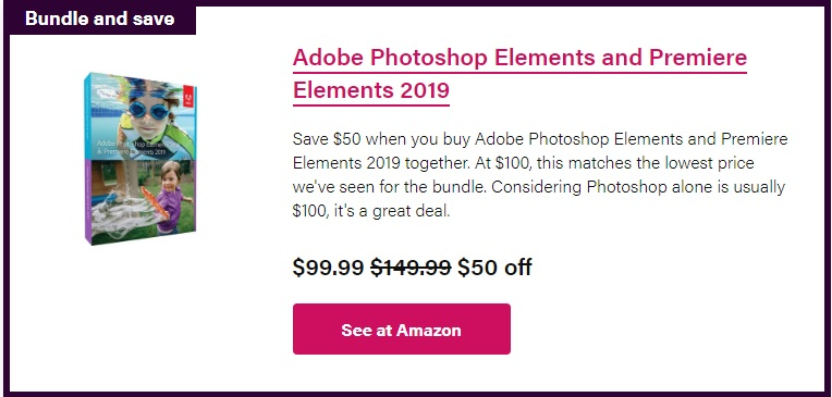 mua ngay photoshop va premiere elements 2019 tren amazon chi voi 100 usd