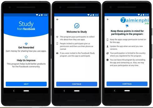 facebook study ung dung tra tien cho nguoi dung khi su dung