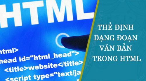 The dinh dang doan van ban trong HTML