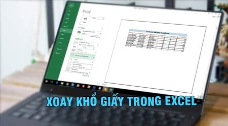 xoay kho giay trong excel